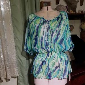 NWT Willi Smith sheer blouse